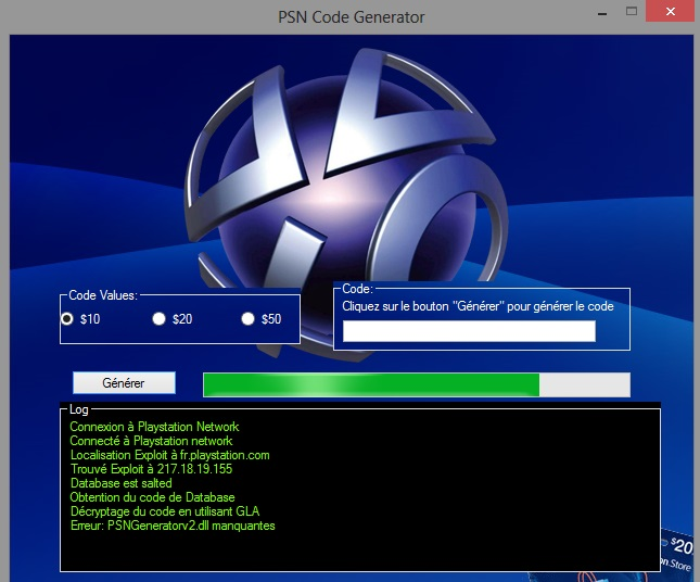 generateur de code psn gratuit 2015